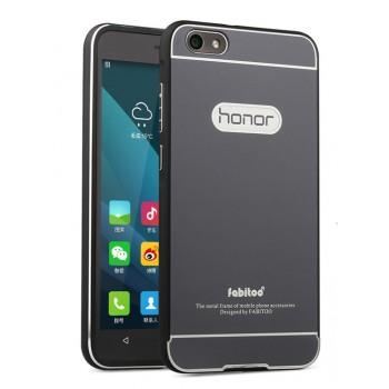 Двухкомпонентный чехол с металлическим бампером и поликарбонатной накладкой для Huawei Honor 4X