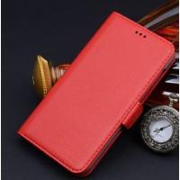Кожаный чехол портмоне (нат. кожа) для Huawei Honor 4X Красный