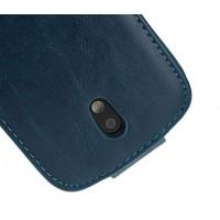 Чехол вертикальная книжка с магнитной защелкой для HTC Desire 500 Синий