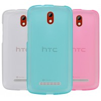 Силиконовый полупрозрачный чехол для HTC Desire 500