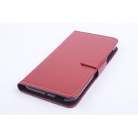 Чехол портмоне подставка на силиконовой основе с магнитной защелкой для ZTE Blade S6/S6 Lite Коричневый