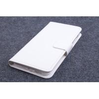 Чехол портмоне подставка на силиконовой основе с магнитной защелкой для ZTE Blade S6/S6 Lite Белый