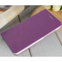 Текустурный чехол флип подставка на пластиковой основе для Huawei Honor 4X Фиолетовый