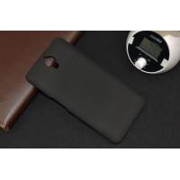 Пластиковый матовый непрозрачный чехол для Alcatel One Touch Idol X+ Черный