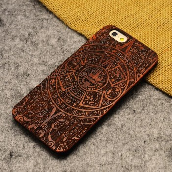Эксклюзивный деревянный чехол накладка с лазерной художественной гравировкой для Iphone 6