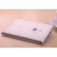 Силиконовый полупрозрачный чехол для Nokia Lumia 1320 Белый