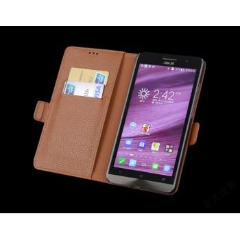 Кожаный чехол портмоне (нат. кожа) для Asus Zenfone 2