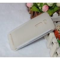 Силиконовый матовый полупрозрачный чехол для Asus Zenfone 2 5 Белый
