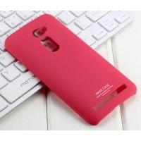 Пластиковый матовый чехол с повышенной шероховатостью для Asus Zenfone 2 5 Пурпурный