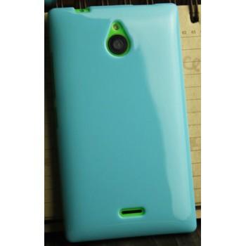 Силиконовый глянцевый непрозрачный чехол для Nokia X2
