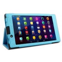 Текстурный чехол подставка с рамочной защитой для Lenovo Tab 2 A7-30 Голубой
