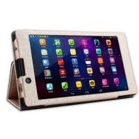 Текстурный чехол подставка с рамочной защитой для Lenovo Tab 2 A7-30 Бежевый