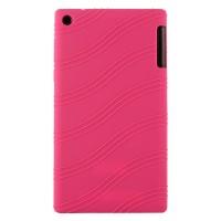 Силиконовый чехол с рельефным узором для Lenovo Tab 2 A7-30 Пурпурный