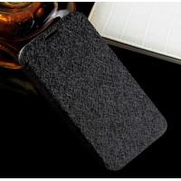 Текстурный чехол флип подставка на присоске и силиконовой основе для Alcatel One Touch Idol 2 mini Черный