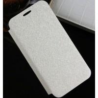 Текстурный чехол флип подставка на присоске и силиконовой основе для Alcatel One Touch Idol 2 mini Белый