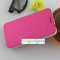 Текстурный чехол флип подставка на присоске для Alcatel One Touch Idol 2 Пурпурный
