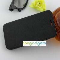Текстурный чехол флип подставка на присоске для Alcatel One Touch Idol 2 Черный