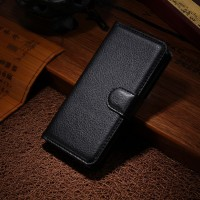 Чехол портмоне подставка с защелкой для Alcatel One Touch Idol Mini Черный