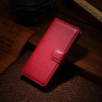 Чехол портмоне подставка с защелкой для Alcatel One Touch Idol Mini Красный