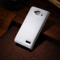 Чехол портмоне подставка с защелкой для Alcatel One Touch Idol Mini Белый