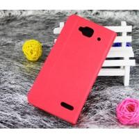Чехол флип подставка с внутренним карманом для Alcatel One Touch Idol Mini Пурпурный