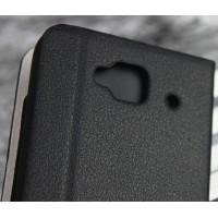 Чехол флип подставка с внутренним карманом для Alcatel One Touch Idol Mini Черный