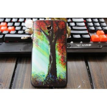 Пластиковый матовый дизайнерский чехол с УФ-принтом для Alcatel One Touch Idol 2 S