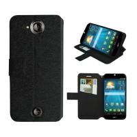 Текстурный чехол портмоне подставка с защелкой для Acer Liquid Jade Черный