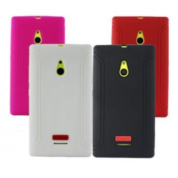 Силиконовый матовый чехол с нескользящими гранями для Nokia XL