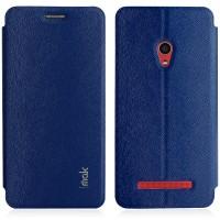 Текстурный чехол флип подставка на присоске для ASUS Zenfone 5 Синий