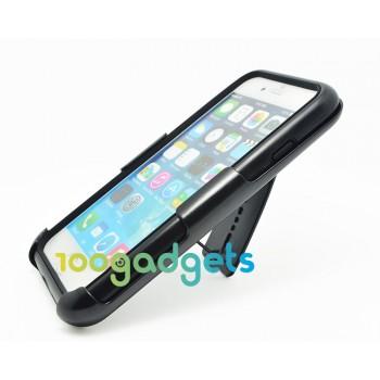 Антиударный поликарбонатный чехол с независимым защитным модулем для экрана на клипсе под ремень и ножкой-подставкой для Iphone 6