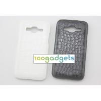 Пластиковый чехол с кожаным покрытием Рептилия для Samsung Galaxy Core Prime