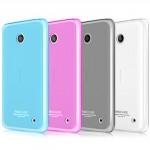 Ультратонкий 0.6 мм силиконовый полупрозрачный чехол с точечной структурой для Nokia Lumia 630
