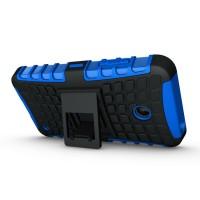 Чехол экстрим защита силикон-пластик для Nokia Lumia 630 Синий