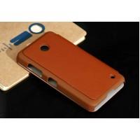 Чехол горизонтальная книжка для Nokia Lumia 630 Коричневый