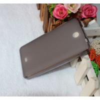 Силиконовый матовый полупрозрачный чехол для Microsoft Lumia 430 Dual SIM Черный