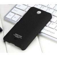 Пластиковый матовый чехол с повышенной шероховатостью для Microsoft Lumia 430 Dual SIM Черный