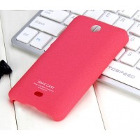 Пластиковый матовый чехол с повышенной шероховатостью для Microsoft Lumia 430 Dual SIM Пурпурный