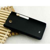 Пластиковый матовый чехол для Microsoft Lumia 430 Dual SIM Черный