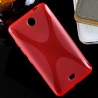 Силиконовый X чехол для Microsoft Lumia 430 Dual SIM Красный