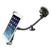 Эксклюзивный двухплоскостной автомобильный держатель с дополнительной опорой на вакуумной присоске и гибком штативе для планшетов 7-11 дюймов для Iphone 5s