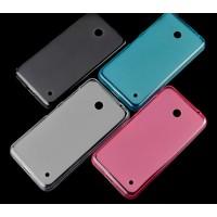 Полупрозрачный силиконовый чехол для Nokia Lumia 630 Розовый