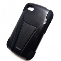 Антиударный силиконовый чехол с поликарбонатной крышкой и ножкой-подставкой для BlackBerry Q10