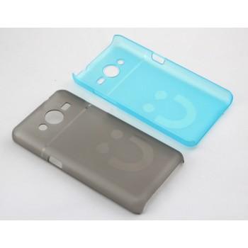 Пластиковый матовый полупрозрачный дизайнерский чехол Smile для Samsung Galaxy Core 2
