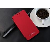Полиуретановый встраиваемый чехол флип для Samsung Galaxy Core 2 Красный