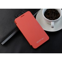 Полиуретановый встраиваемый чехол флип для Samsung Galaxy Core 2 Оранжевый