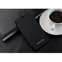 Полиуретановый встраиваемый чехол флип для Samsung Galaxy Core 2 Черный