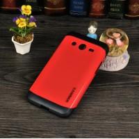 Двухкомпонентный гибридный чехол силикон/поликарбонат для Samsung Galaxy Core 2 Красный