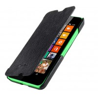 Кожаный чехол-флип (нат. кожа) для Nokia Lumia 630