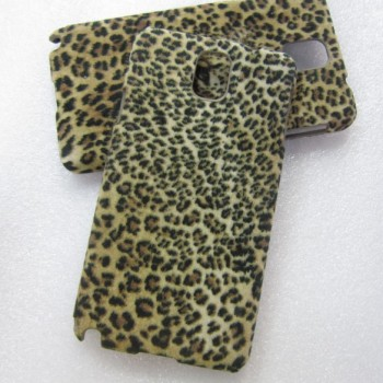 Эксклюзивный пластиковый дизайнерский чехол с аппликацией ручной работы серия Леопард для Samsung Galaxy Note 3